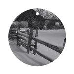 Country Farm Ornament (Round)