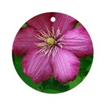 Pink Flower Ornament (Round)