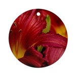Red Lilly Ornament (Round)