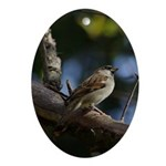 Sparrow Ornament (Oval)