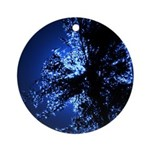 Tall Grass Blue Ornament (Round)