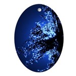 Tall Grass Blue Ornament (Oval)