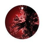 Tall Grass Red Ornament (Round)