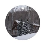 Winter Chalet Ornament (Round)
