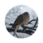 Winter Dove Ornament (Round)