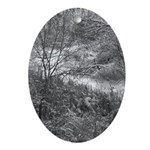 Winter Woods Ornament (Oval)