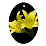 Yellow Lilly Ornament (Oval)