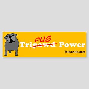 Tri-Pug Power Sticker (Bumper)