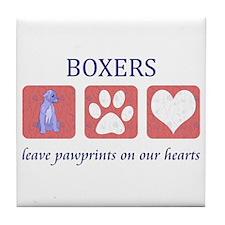 Boxer Lover Gifts Tile Coaster