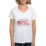 Cavalier King Charles Spaniel Women's V-Neck T-Shi
