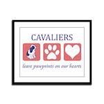 Cavalier King Charles Spaniel Framed Panel Print