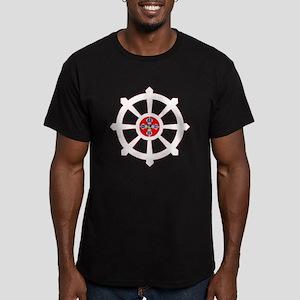 dharma wheel of life Men's Fitted T-Shirt (dark)