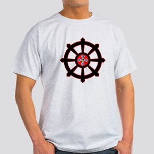dharma wheel of life Light T-Shirt