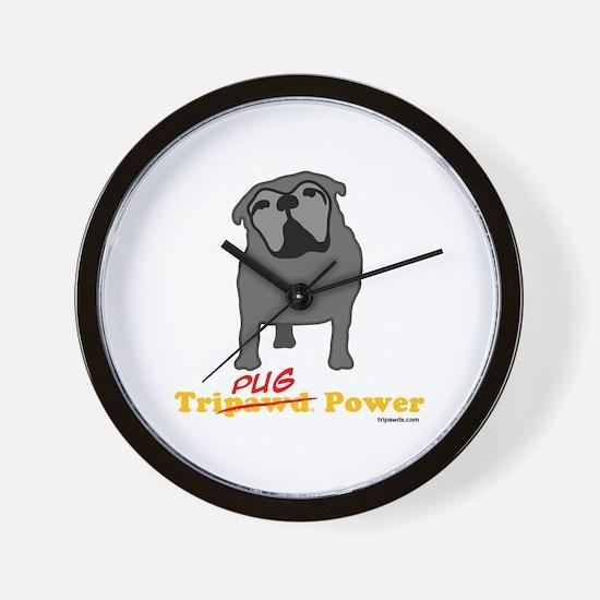 Tri-Pug Power Wall Clock