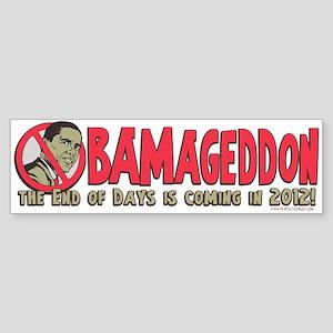 Obamageddon Anti Obama Sticker (Bumper)