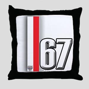 67 Red White Throw Pillow