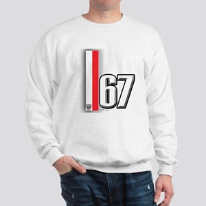 67 Red White Sweatshirt