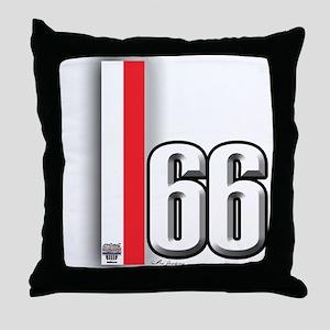 66 Red White Throw Pillow