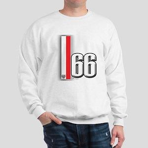 66 Red White Sweatshirt