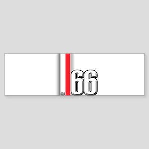 66 Red White Sticker (Bumper)