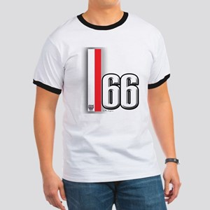 66 Red White Ringer T