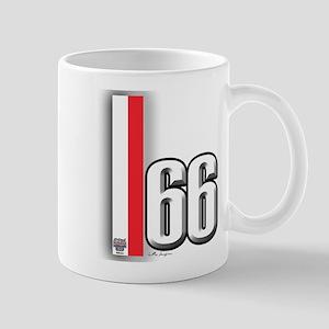 66 Red White Mug