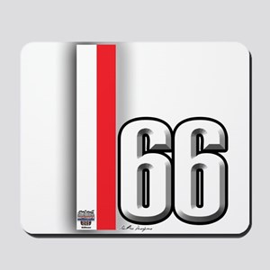 66 Red White Mousepad