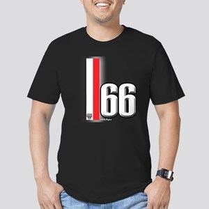 66 Red White Men's Fitted T-Shirt (dark)