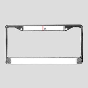 66 Red White License Plate Frame