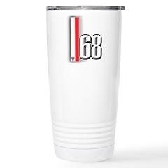 68 Red White Stainless Steel Travel Mug