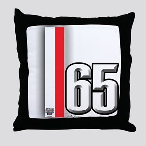 65 Red White Throw Pillow