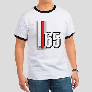 65 Red White Ringer T