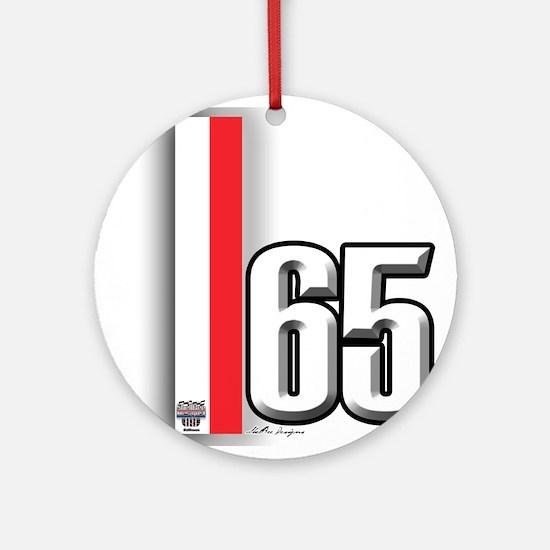 65 Red White Ornament (Round)