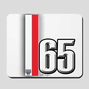 65 Red White Mousepad