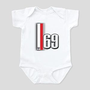 69 Red Whirte Infant Bodysuit