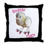 Skater Chick SK8 Throw Pillow