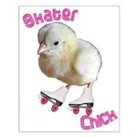 Skater Chick SK8 Small Poster
