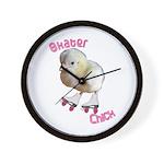Skater Chick SK8 Wall Clock