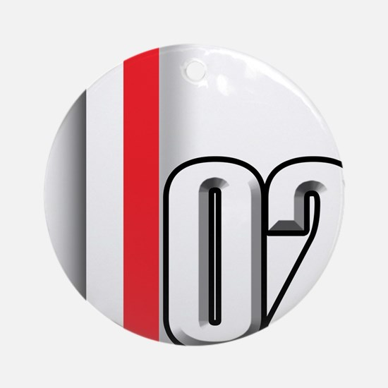 2002 Red White Ornament (Round)