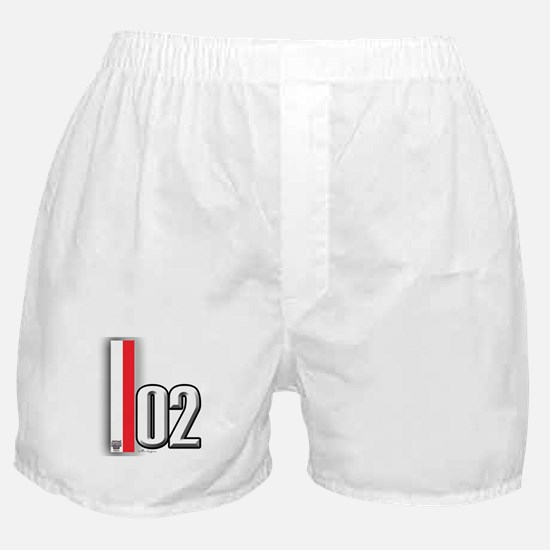 2002 Red White Boxer Shorts