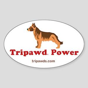 Tripawd Power Sticker (Oval)