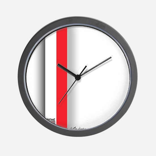 Red White Wall Clock