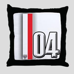 2004 Red White Throw Pillow
