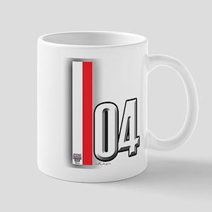 2004 Red White Mug