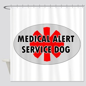 SERVICE DOG SHOP Shower Curtain