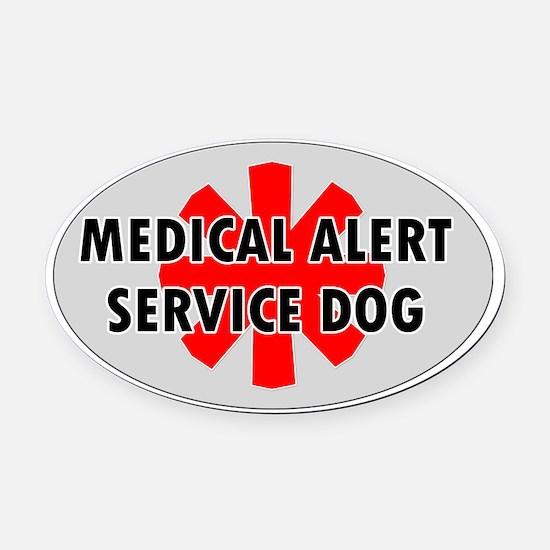 SERVICE DOG SHOP Oval Car Magnet