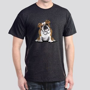 Brown White Bulldog Dark T-Shirt