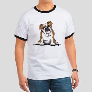 Brown White Bulldog Ringer T