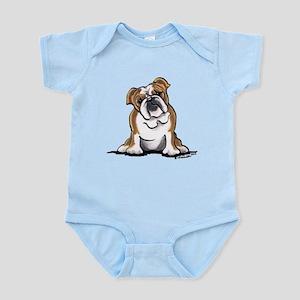 Brown White Bulldog Infant Bodysuit