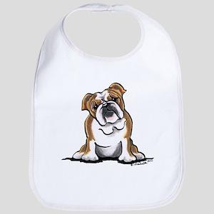 Brown White Bulldog Bib